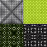 Set of colorful seamless pattern vector