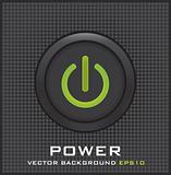Power button on dots background vector