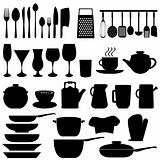 Kitchen utensils and objects