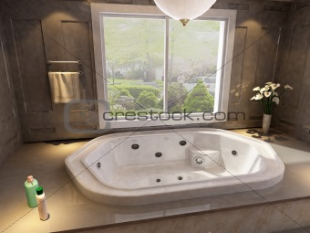 3d rendering of the bathroom interior