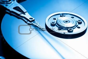 HDD Background macro closeup in blue