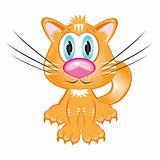 Cartoon red kitten