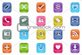 3d quadrat vector inset useful icon set