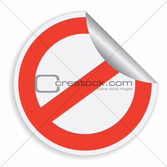 Sticker with restrictive sign