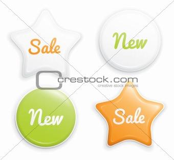 Selling sticker set