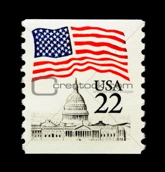 Patriotic USA Stamp