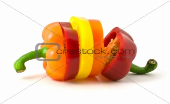 color parts of bulgarian pepper