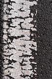 Asphalt Road Surface With Line