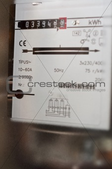 Closeup of a home residential gas meter