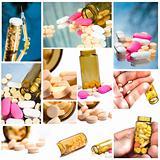 Medicien tileset with medicine bottle, pills, and syringe