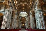 Saint Peter&#39;s basilica interior in Vatican