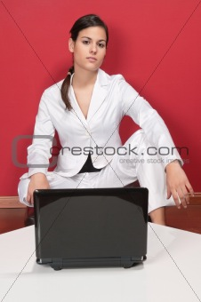 Smart businesswoman posing