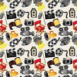 cartoon movie equipment seamless pattern