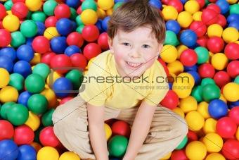 Boy and balls