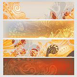 Eastern hand drawn banners set