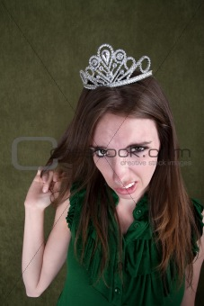 Disgusted Young Woman