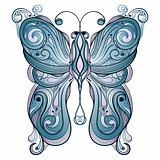 vector blue  butterfly