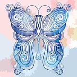 vector blue  butterfly