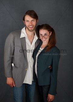 Smiling Man and Cross-Eyed Woman