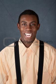 Laughing Man Wearing Suspenders