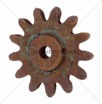 Old rusty gear