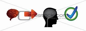 brain arrow head
