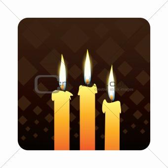 candles od dark background