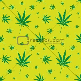 cannabis leaf pattern