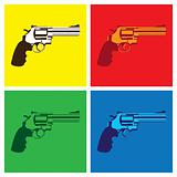 revolver in pop-art