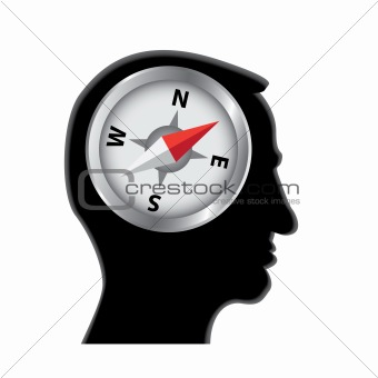 compass in head