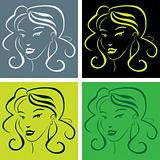 girl face in popart