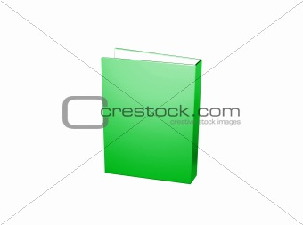 Folder icon from set. Green folder isolated on white