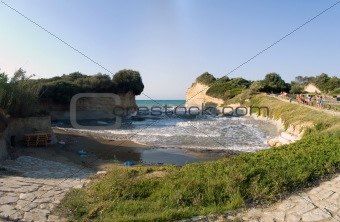 Canal D'Amour panoramic beach view, Corfu, Greece