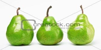 three green pears