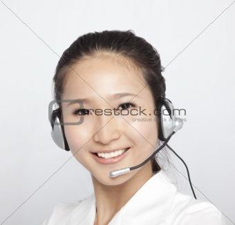 portrait of beautiful asian Customer Representative