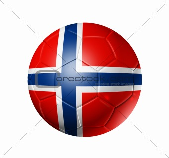 Soccer football ball with Norway flag