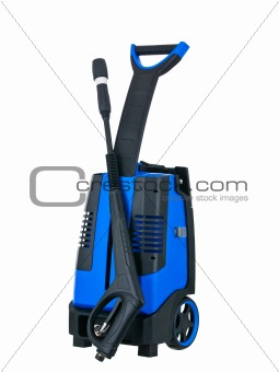 Blue pressure portable washer front view