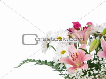 Soft colors flowers bouquet