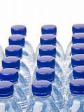 Rows of water bottles