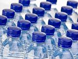 Rows of water bottles