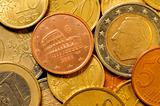 Euro cent coin currency