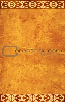 Grunge background with celtic patterns