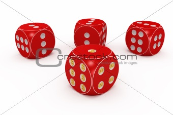 Red dice.