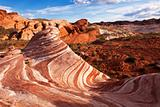 Colorful Red Sandstone Rock Formation