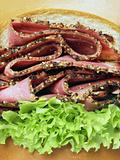 beef pastrami sandwich