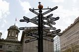 World Landmarks Directional Signpost