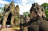 Entrance to Angkor thom at Siem Reap, Cambodia 