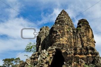 Bayon Temple at Angkor Siem Reap Cambodia