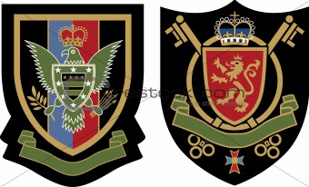 heraldic eagle symbol shield