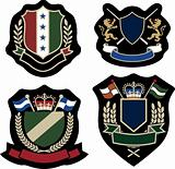 royal stylish emblem shield